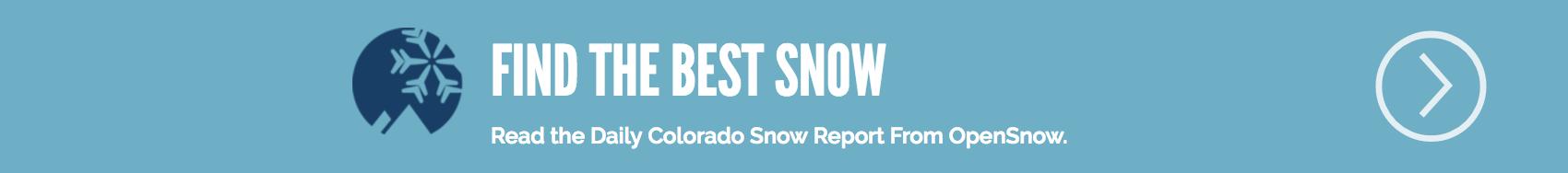 OpenSnow Colorado Snow Forecast